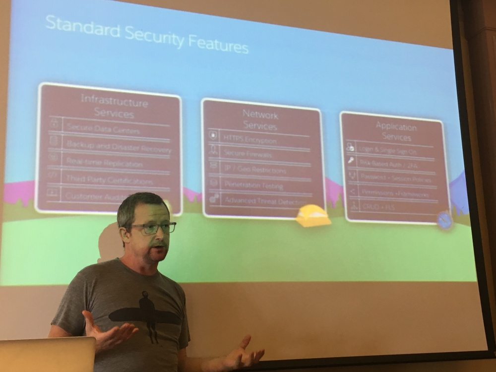 Chuck Mortimore talking security